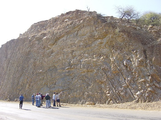 Another example of folded stratigraphy: Paleozoic sandstones, Tarija, SE Bolivia.