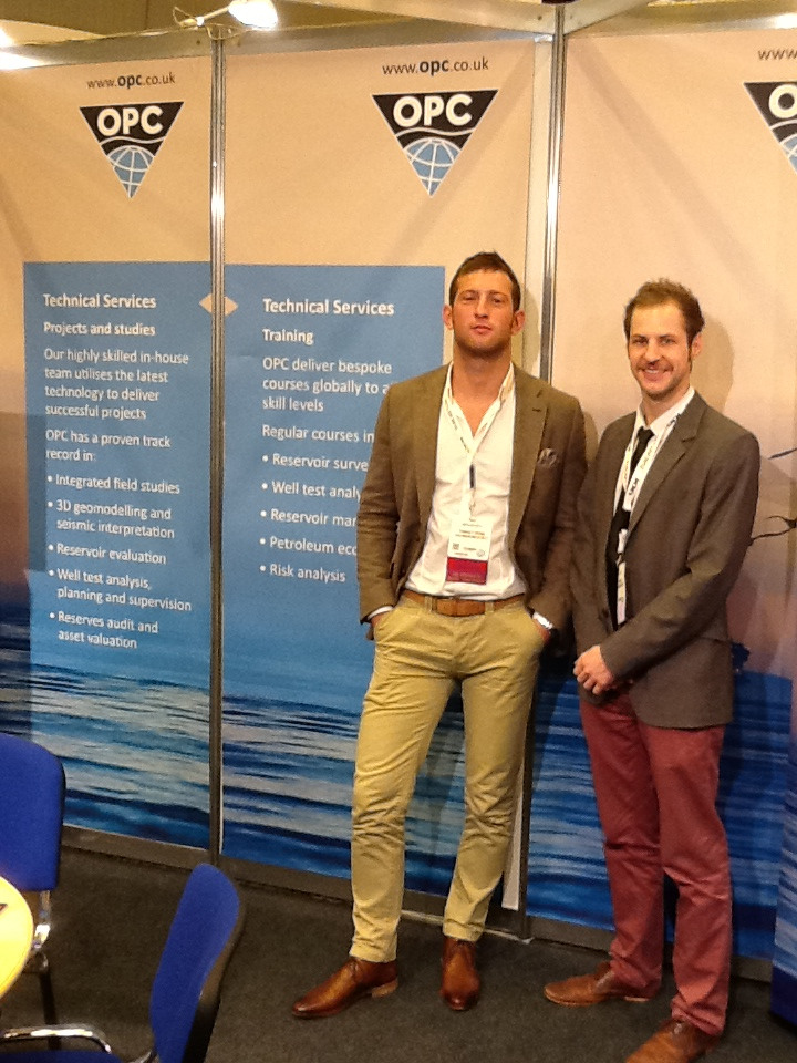 Riley Smith and Thibault Grand of Consultant Services at Petex 2012