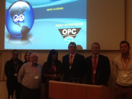 Piers Johnson, OPC Managing Director accompanied by all the OPC staff in attendance