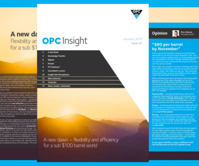 OPC Insight – a new dawn for E&P in a sub $100 barrel world